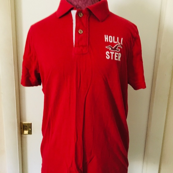 Red Hollister polo with logo